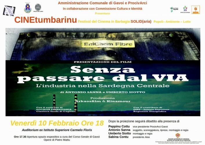 SERATA FINALE DEL CINETUMBARINU  – SENZA PASSARE DAL VIA – VEN.10 ORE 18.00