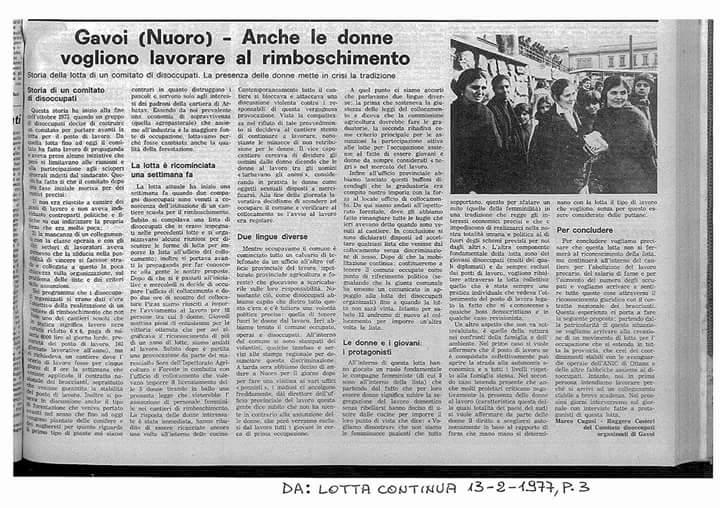 Le Donne di Gavoi 1977