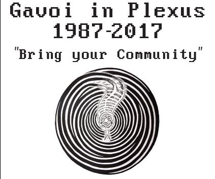"""Gavoi in Plexus 1987-2017"""