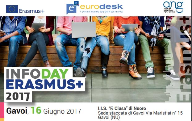Eurodesk: il 16 giugno a Gavoi un Training Day Erasmus+