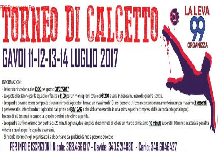 TORNEO DI CALCETTO 11-12-13 LUGLIO A GAVOI