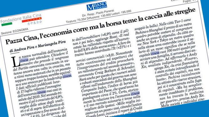 L'ECONOMIA CINESE RACCONTATA DA DUE GIORNALISTI DI ORIGINE GAVOESE