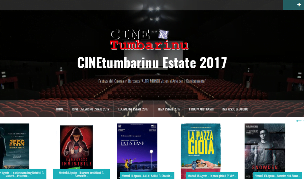 TERZO APPUNTAMENTO CON LA RASSEGNA CINETUMBARINU ESTATE 2017