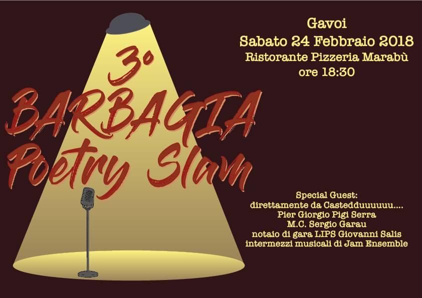 "Il Poetry Slam ""Sfida tra Poeti a Gavoi"" 24 febbraio"