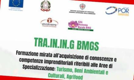 GAL BMG FORMAZIONE PER LO SVILUPPO TURISMO SOSTENIBILE E AGROALIMENTARE GIOVEDI 21/02 A GAVOI