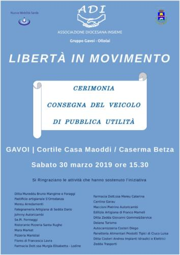 """LIBERTA' IN MOVIMENTO""  – ADI GAVOI-OLLOLAI –"