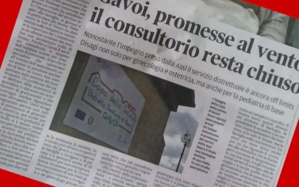 GAVOI, PROMESSE AL VENTO: IL CONSULTORIO RESTA CHIUSO