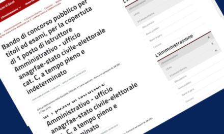(Avviso) Bando di concorso pubblico n° 1 posto di Istruttore Amministrativo a Gavoi