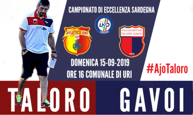TALORO: DOMENICA PARTE IL CAMPIONATO 2019-2020