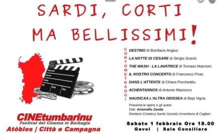 """""""Sardi, Corti ma bellissimi!"""", serata speciale del festival CineTumbarinu"""