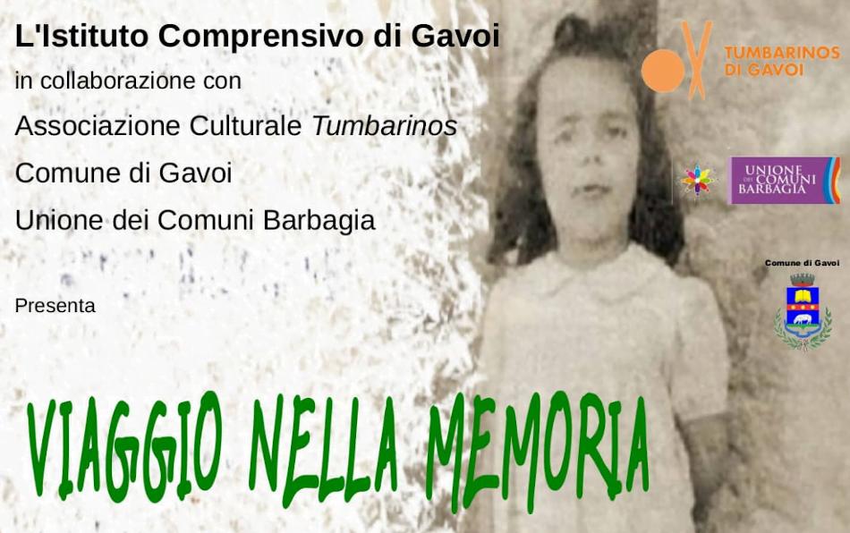 """""""VIaggio nella memoria"""" mercoledì 22 gennaio 2020 a Gavoi"""