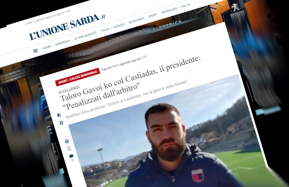 """Il presidente del Taloro Gavoi """"Penalizzati dall'arbitro"""""""