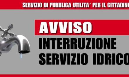 SOSPENSIONE DELL'EROGAZIONE DELL'ACQUA IN TUTTO L'ABITATO DEL COMUNE DI GAVOI