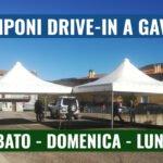 SABATO, DOMENICA E LUNEDI TAMPONI DRIVE-IN A GAVOI