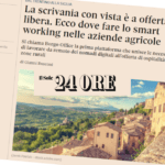 SMART WORKING BORGO OFFICE LAVORARE DA REMOTO DEI NOMADI DIGITALI – IL SOLE 24 ORE – GAVOI –