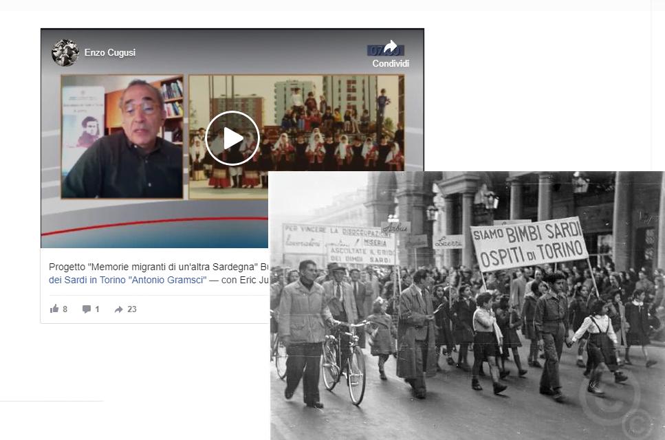 """IL PRESIDENTE ENZO CUGUSI RACCONTA """"Memorie migranti di un'altra Sardegna"""""""