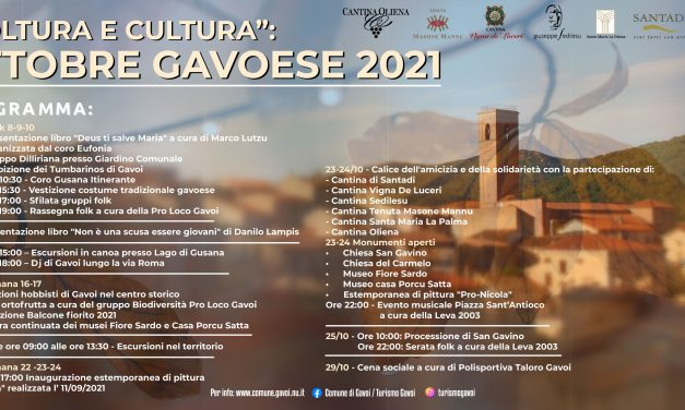 OTTOBRE GAVOESE 2021  Colture e Culture A GAVOI